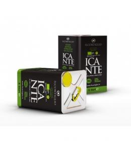 Incante Bio lattina di olio extra vergine di oliva biologico - 5 LT - Il Cortiglio Rocca Normanna