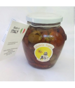 Dried Tomatoes and Olives Sch. With Extra Virgin Olive Oil - Calabria Sapori S.A.S.