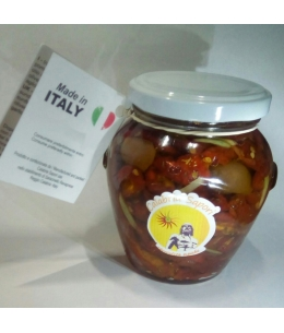 Dried Tomatoes and Olives Sch. With Sunflower Seed Oil - Calabria Sapori S.A.S.