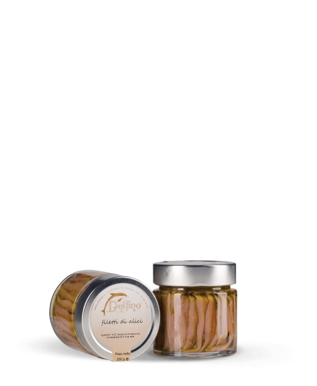 Anchovy fillets in EVO - Top Line - 212 ml
