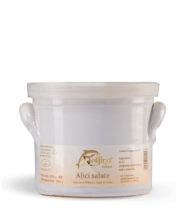 Salted anchovies in clay pot - 1800 ml.