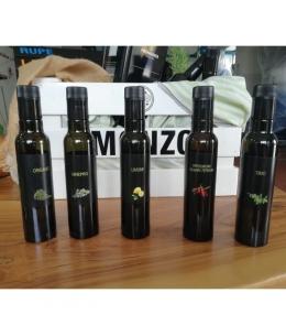 Olio aromatizzato vari gusti - bottiglia da 0,25 lt.